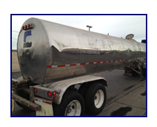 1981 Brenner 6,500 Gal Stainless Steel Transport Tank Trailer